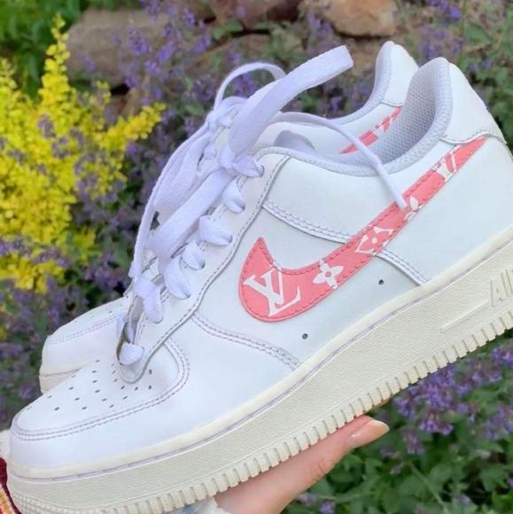 Nike Shoes Custom Made Lv Air Force 1 Sneakers White Poshmark
